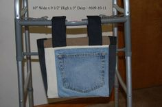 Blue and Brown Jean Man's Walker Pouch by delightfullycreated7, $15.00