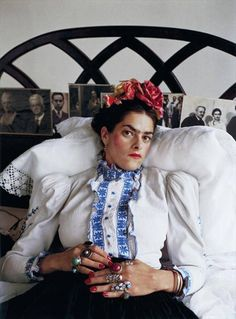 A trio of women artists - the brilliant Tracey Emin as Frida Kahlo, photographed by Mary McCartney. and celebrate another woman artist from 15 April 2015 in The EY Exhibition: Sonia Delaunay. Women Artist, Mary Mccartney, English Artists, Feminist Art, National Portrait Gallery, Famous Women, Famous Celebrities, Famous People, Art Photography