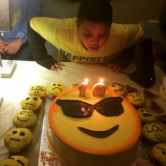 My baby is turning 10 such a big boy now! Celebrating his upcoming Birthday! Birthday Party For Teens, 11th Birthday, Birthday Party Themes, Birthday Cake, Birthday Ideas, Emoji Birthday Shirt, Emoji Theme Party, Emoji Cake, Garlic Knots