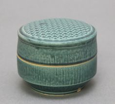 Wheel thrown covered jar / wish box with Chattering by hsinchuen, $120.00