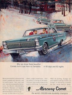 1965 Mercury Comet - Cape Horn to Fairbanks 40 Days Ad - USA by Five Starr Photos ( Aussiefordadverts), via Flickr