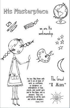 God's Girls Acrylic Stamps- Creativity Scripture Art, Bible Art, Bible Verses, Scripture Doodle, Scriptures, Bible Study Journal, Journal Art, Art Journaling, Faith Bible