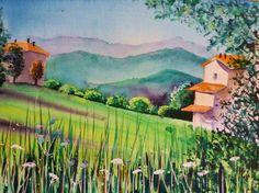 Water-colour of Villa Minozzo