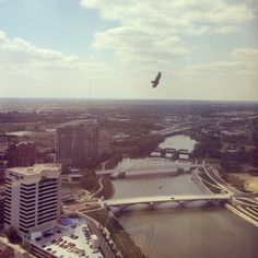 Flying high above #Columbus