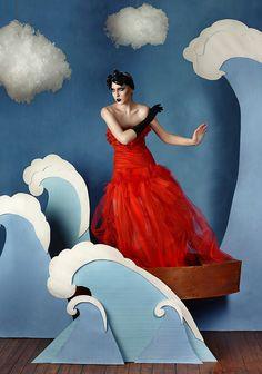 """Ocean princess""  md: Anna; photo, costume designer, decorations, idea: Ксения Ализабаль"