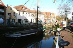 In Buxtehude am Fleet. Kleine Hansestadt bei Hamburg - Buxtehude. Märchenstadt vom Hasen & Igel.