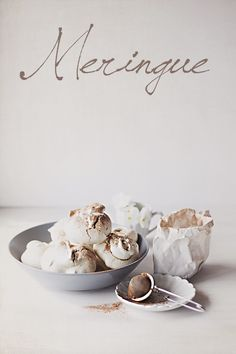 meringues with pine nuts cocoa