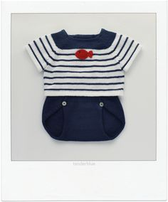knitted baby set by tenderblue