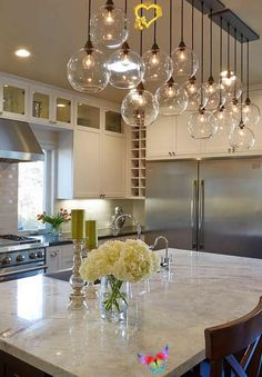 This item is unavailable #Kitchen industrial lighting<br> Kitchen Lighting Design, Kitchen Lighting Fixtures, Dining Room Lighting, Home Lighting, Lighting Ideas, Industrial Lighting, Pendant Lighting, Dining Rooms, Dining Tables