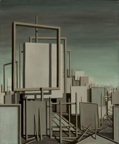 "// Kay Sage, ""The Answer is No,"" 1958, Oil on canvas,"