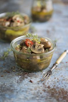 Pickled Mushrooms with Herbs and Lemon