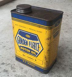 Early Golden Fleece service station 1 Quart oil can