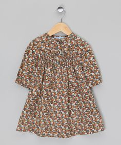 Take a look at this Brown Flower Dress  on zulily today!