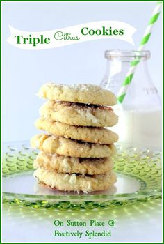 Triple Citrus Cookies