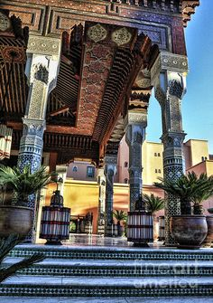 La Mamounia Riad, Marrakech m Moroccan Design, Moroccan Style, Beautiful Buildings, Beautiful Places, Moroccan Interiors, Islamic Architecture, Hotels And Resorts, Tours, Places To Visit