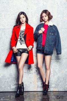 girl's day sojin & hyeri LeShop fashion