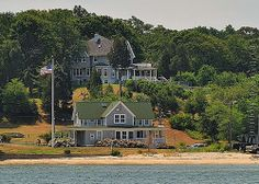 View of Shelter Island Heights from Northern Ferry boat. Shelter Island Ny, Places Ive Been, Places To Go, Ferry Boat, Long Island Ny, House Goals, New England, The Hamptons, Vacation