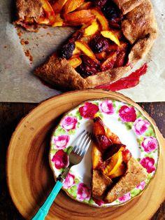 sweetsugarbean: Plum & Nectarine Hazelnut Galette