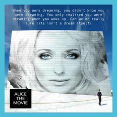 Can we be really sure life isn't a dream itself? #quote #life #dreaming #nonduality www.alicethemovie.com