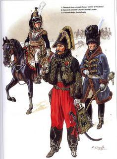 Napoleon Généraux 1792-1809 1-Général Jean-Joseph Ange, Comte d'Hautpoul 2-Général Antoine-Charles-Louis Lasalle 3-Colonel Major Louis Lepic