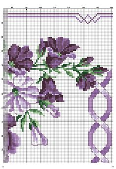This Pin was discovered by Nes Cross Stitch Love, Cross Stitch Borders, Cross Stitch Flowers, Cross Stitch Designs, Cross Stitching, Cross Stitch Patterns, Basic Embroidery Stitches, Cross Stitch Embroidery, Diy Scarf