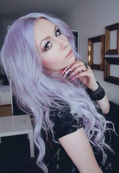 Lilac / Lavender hair:) It looks so beautiful and it would go well with my pale skin