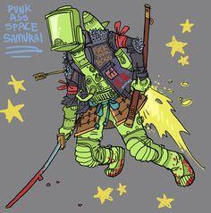 space punk samurai by jonasGOONFACE.deviantart.com on @DeviantArt