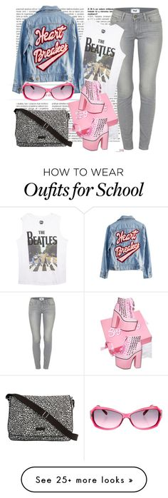 """""""going old school"""" by ffendi on Polyvore featuring Paige Denim, Wet Seal, High Heels Suicide, Chopard, Sugarbaby and Vera Bradley"""