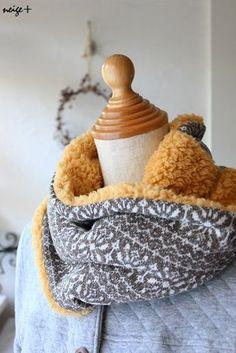 あったかファーのリバーシブルネックウォーマーの作り方レシピ大公開♪ : neige+ 手作りのある暮らし