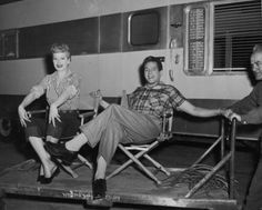 Lucy and Desi off set The Long Long Trailer
