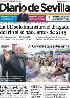 Los Titulares y Portadas de Noticias Destacadas Españolas del 9 de Mayo de 2013 del Diario de Sevilla ¿Que le parecio esta Portada de este Diario Español?