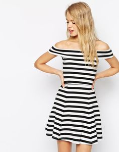 bardot striped dress | ASOS