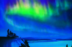 I was so blessed to see this ONE TIME (in the '80's during an allnighter to Oregon) God was having fun when he made the arora borealis. Thanks God!