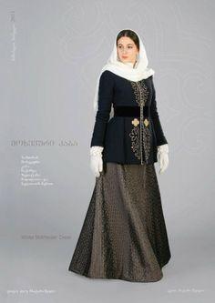 Traditional Georgian costumes by Samoseli Pirveli