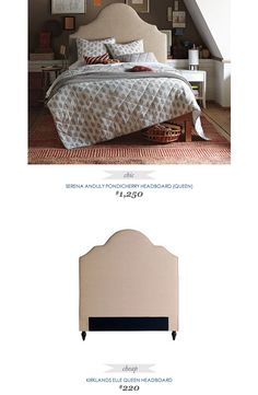 COPY CAT CHIC FIND SERENA AND LILY PONDICHERRY HEADBOARD
