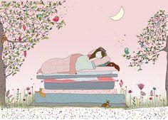 Poster déco Princesse au Petit Pois pour Chambre de petite fille - Amélie Biggs
