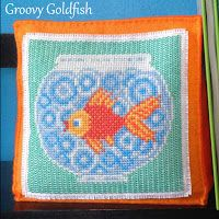 Floss & Fleece: Free printable goldfish cross-stitch chart