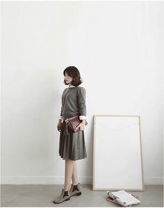 Spon Leather Skirt | Korean Fashion