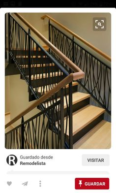 I love the staircase! Wrought Iron Staircase modern by FINNE Architects Staircase Railing Design, Modern Stair Railing, Wrought Iron Staircase, Steel Railing, Stair Handrail, Modern Stairs, Stair Risers, Metal Railings, Banisters