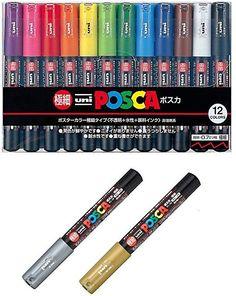 Uni Posca PC8K15C 15 Color Markers set 8mm Japan Mitsubishi Pencil