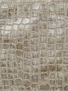 """Hook Bronze    Alligator skin pattern chenille jacquard for upholstery, drapery or bedding. 100% poly. H 7"""", V 14"""" repeat. 54"""" wide"""