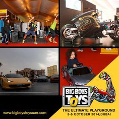 Big Boys Toys 2014, the Ultimate Playground that promises unadulterated Entertainment, Gaming, Simulations, Test Drives, Fun Zones & more! Get your friends and plan out your trip as we showcase the latest and the best in technology this October! Get your tickets today!