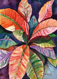 "Marionette Taboniar sold a 26.13"" x 36.00"" print of Colorful Tropical Leaves 1 to a buyer from Seattle, WA."
