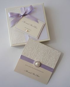 Many wedding invitation companies can offer a choice of design templates where y. Many wedding invitation companies can offer a choice of design templates where you just need to fil Wedding Invitation Trends, Making Wedding Invitations, Invitation Set, Wedding Stationary, Damask Wedding, Lilac Wedding, Cream Wedding, Our Wedding, Wedding Ideas