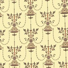 Dolls House Miniature Wallpaper 1/12th or 1/24th scale Quality Paper Cream Vintage   #185