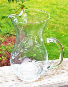 Small Princess House Crystal Etched Pitcher by HouseofLucien