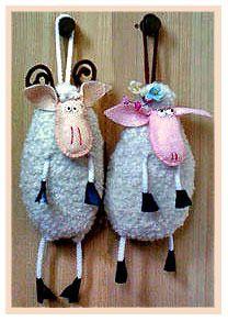 Выкройки игрушки овцы, козы, ягненка, козленка / Мастер-класс