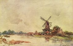 Hollands landschap, Johan Barthold Jongkind