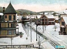 Hardwick postcard. This is the town where I went to highschool. Population about 3,000. My school had about 300 students grades 7-12