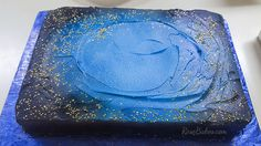 A Galaxy Cake for our Galactic Starveyors VBS Commencement reception! This cake is super-duper easy - a design anybody can pull together quickly!